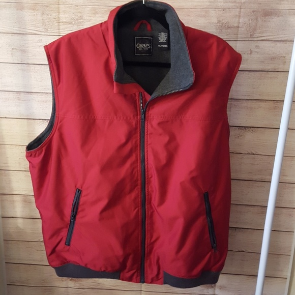Chaps Other - Chaps Men's Red Outerwear Vest, Size XXL